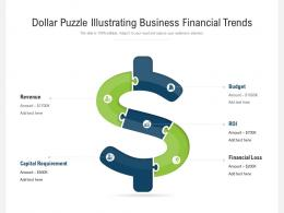Dollar Puzzle Illustrating Business Financial Trends