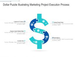 Dollar Puzzle Illustrating Marketing Project Execution Process
