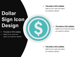 Dollar Sign Icon Design Ppt Sample Download