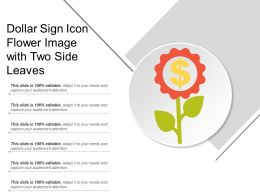 Dollar Sign Icon Flower Image With Two Side Leaves