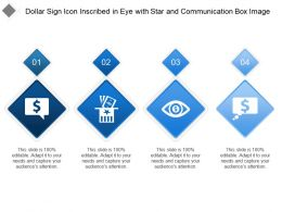 Dollar Sign Icon Inscribed In Eye With Star And Communication Box Image