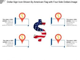 Dollar Sign Icon Shown By American Flag With Four Side Dollars Image