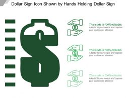 Dollar Sign Icon Shown By Hands Holding Dollar Sign