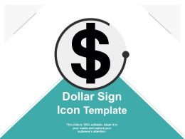 Dollar Sign Icon Template Ppt Samples Download