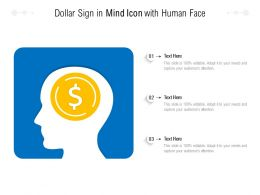 Dollar Sign In Mind Icon With Human Face
