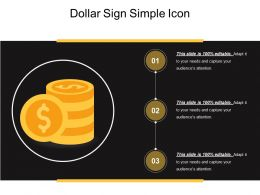 Dollar Sign Simple Icon Ppt Slide Themes