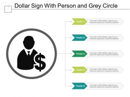 Dollar Sign With Person And Grey Circle