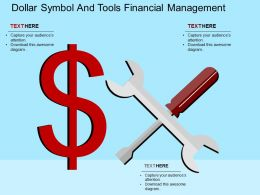 dollar_symbol_and_tools_financial_management_flat_powerpoint_design_Slide01