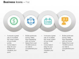 Dollar Symbol Exchange Money Calendar Financial Analysis Ppt Icons Graphics
