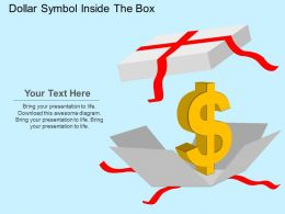 Dollar Symbol Inside The Box Flat Powerpoint Design