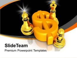 Dollar Symbol With Chess Mates Game Powerpoint Templates PPT Themes And Graphics 0213
