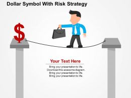 dollar_symbol_with_risk_strategy_flat_powerpoint_design_Slide01