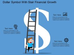 Dollar Symbol With Stair Financial Growth Flat Powerpoint Design