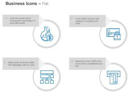 Dollar Symbols Flow Chart Safe Data Receipt Ppt Icons Graphics