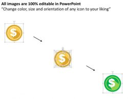 Dollar Symbols Growth Chart For Financial Growth Flat Powerpoint