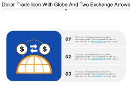 Dollar Trade Icon With Globe And Two Exchange Arrows