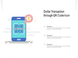 Dollar Transaction Through QR Code Icon