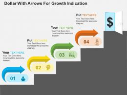 Dollar With Arrows For Growth Indication Flat Powerpoint Design
