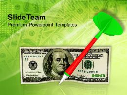 Dollar With Dart Success Target Powerpoint Templates PPT Themes And Graphics 0113