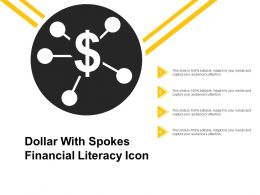 Dollar With Spokes Financial Literacy Icon