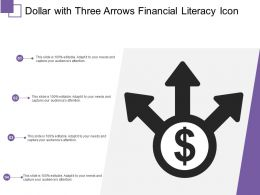 Dollar With Three Arrows Financial Literacy Icon