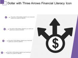 Dollar With Three Arrows Financial Literacy Icon