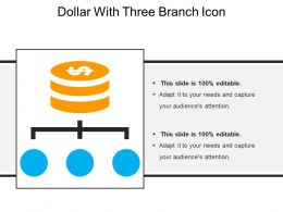 Dollar With Three Branch Icon