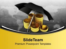 Dollar With Umbrella Success Business Powerpoint Templates Ppt Themes And Graphics 0213