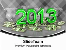 Dollars New Year Finance PowerPoint Templates PPT Backgrounds For Slides 0113