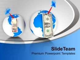 dollars_over_globe_with_dart_finance_powerpoint_templates_ppt_themes_and_graphics_0113_Slide01