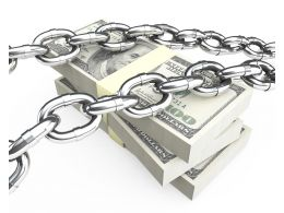 Dollars With Chain 3d Graphic Stock Photo
