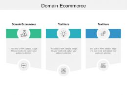 Domain Ecommerce Ppt Powerpoint Presentation Inspiration Deck Cpb