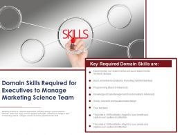 Domain Skills Required For Executives To Manage Marketing Science Team