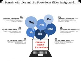 Domain With Org And Biz Powerpoint Slides Background Designs