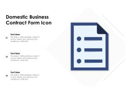 Domestic Business Contract Form Icon