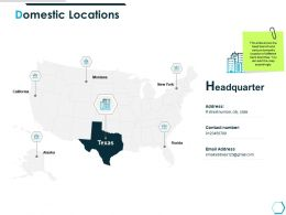 Domestic Locations Headquarter Ppt Powerpoint Presentation Graphics