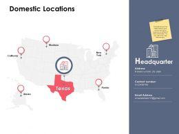 Domestic Locations Ppt Powerpoint Presentation File Portfolio