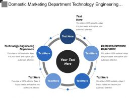 Domestic Marketing Department Technology Engineering Department Finance Department