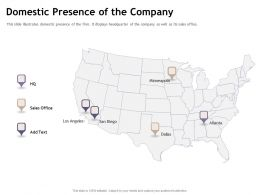 Domestic Presence Of The Company Dallas M1887 Ppt Powerpoint Presentation Show Pictures