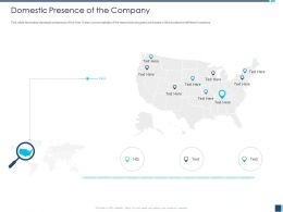 Domestic Presence Of The Company M1217 Ppt Powerpoint Presentation Icon Show