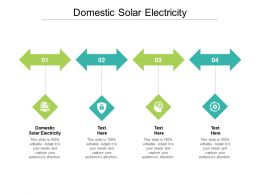 Domestic Solar Electricity Ppt Powerpoint Presentation Portfolio Clipart Images Cpb