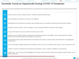 Domestic Travel As Opportunity During COVID 19 Pandemic Hyper Ppt Powerpoint Presentation Shapes