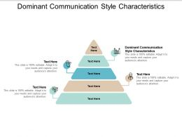 Dominant Communication Style Characteristics Ppt Powerpoint Presentation Lists Cpb