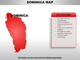 Dominica Country Powerpoint Maps