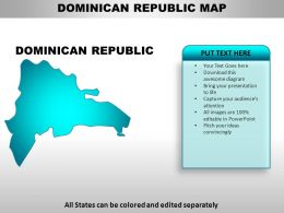Dominican Republic Country Powerpoint Maps