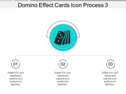 Domino Effect Cards Icon Process 3