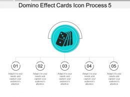 Domino Effect Cards Icon Process 5