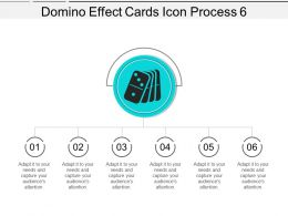 Domino Effect Cards Icon Process 6