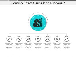Domino Effect Cards Icon Process 7