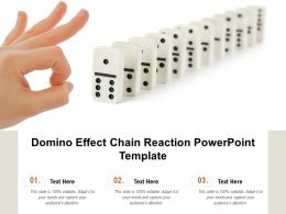 Domino Effect Chain Reaction Powerpoint Template